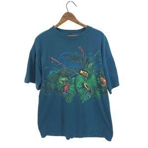 SIGNAL Rainforest Dart Frogs Blue T-shirt XL